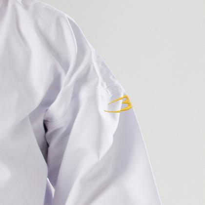 純白フルコンタクト空手衣 上衣刺繍入り 00号