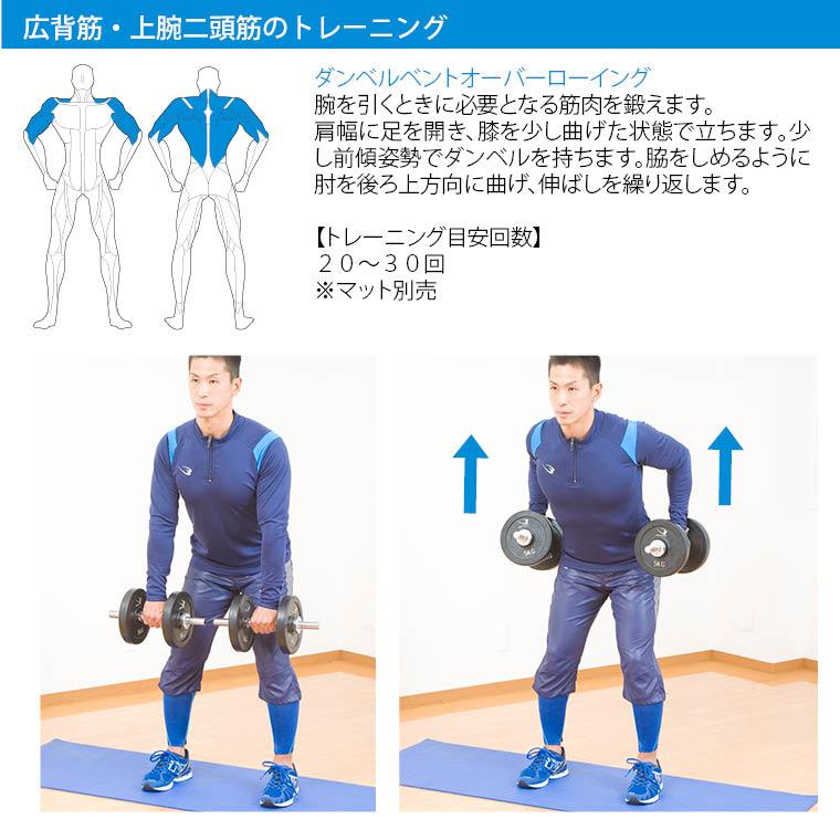 クロームダンベル(ローリングタイプ) 3kg 筋トレ トレーニング フィジカルトレーニングトレーニング例 ダンベルトレーニングメニュー