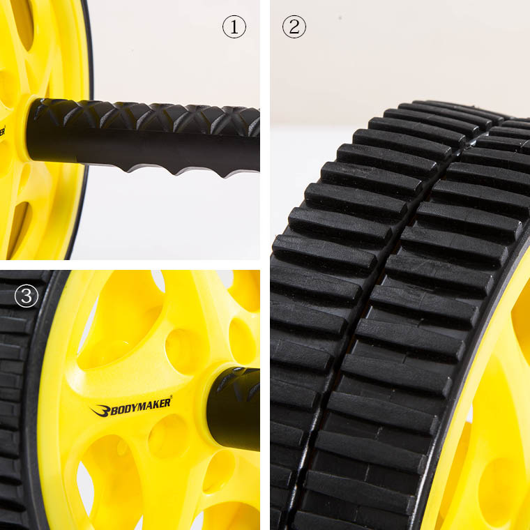アブスライダー2 ブラック×イエロー 腹筋ローラー 腹直筋ローラー