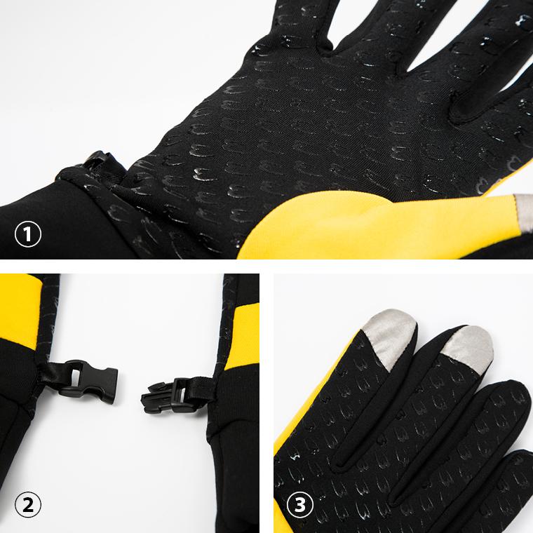 タッチパネルランニンググローブ ランニングコーデ ランニングスタイル ランニング小物