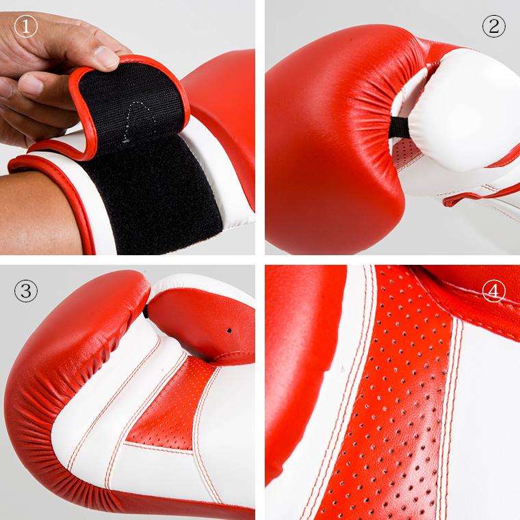 ボクシンググローブ  12OZ 12オンス 初心者 赤 黒 レトロ 男女兼用