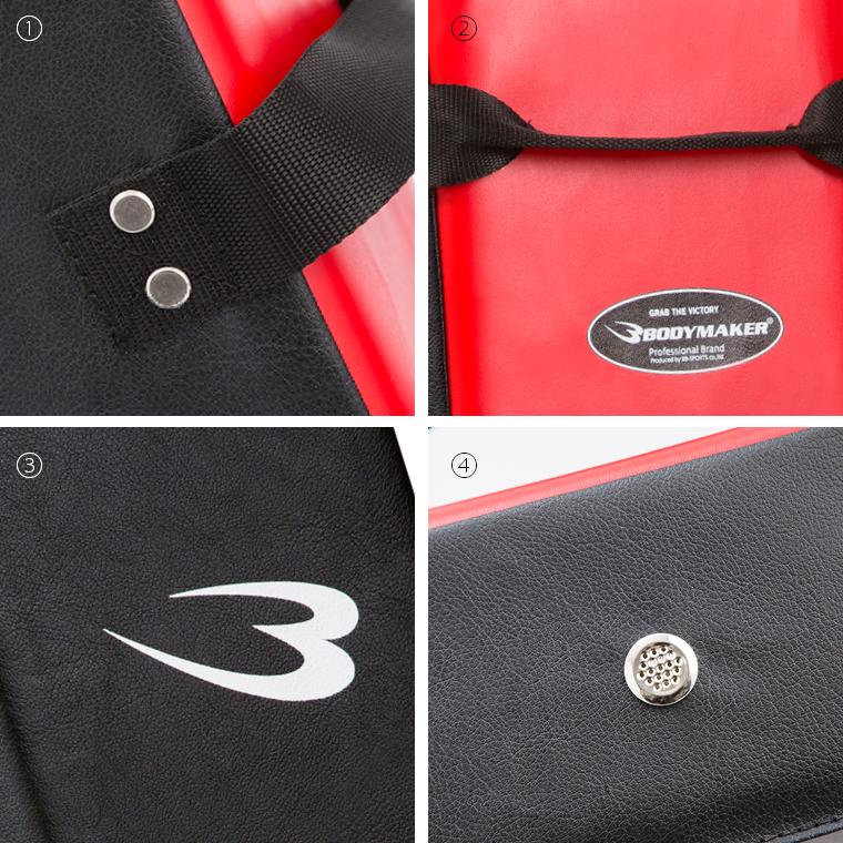 ハイパーキックミット:ブラック×レッド 商品詳細:�@耐久性の高い縫製�Aグリップ�B打撃面�Cエアホール