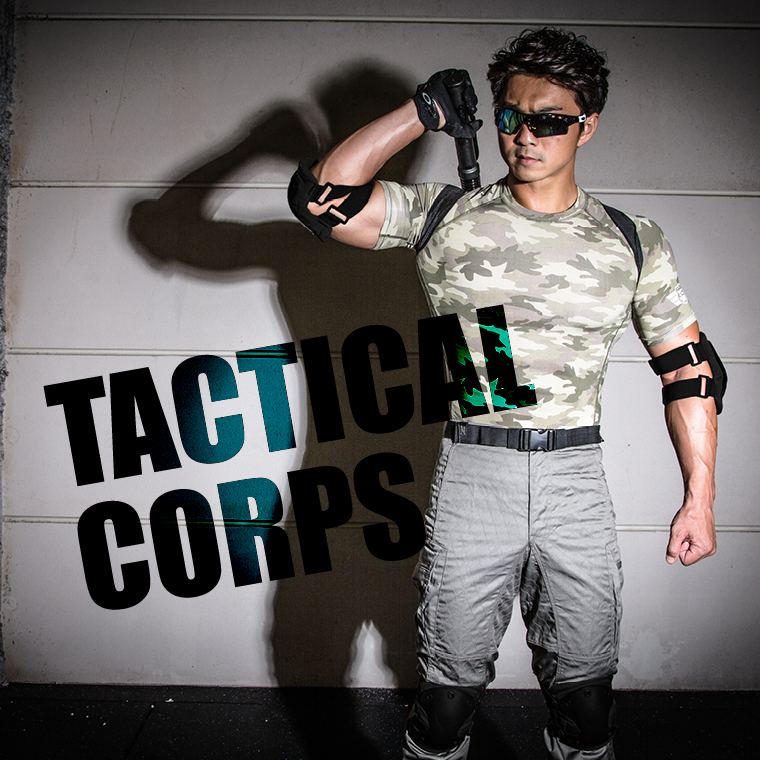 TACTICAL CORPS エルボーアンドニープロテクター サバゲ— 肘プロテクター膝プロテクター ミリタリー