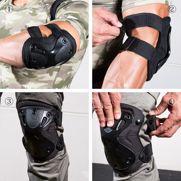 TACTICAL CORPS エルボーアンドニープロテクター 肘あて膝あて