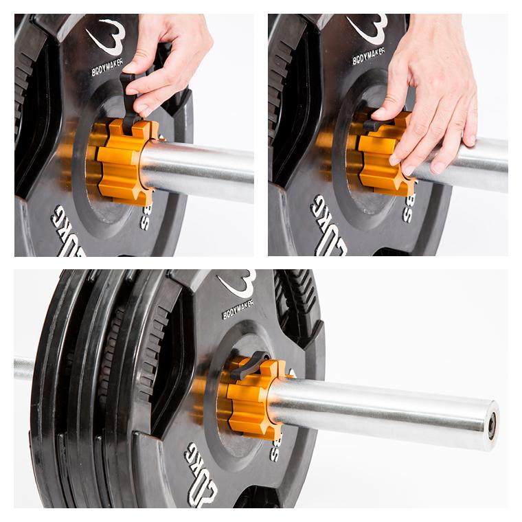 オリンピックシャフト用カラー(アルミ)耐久性 ホールド力