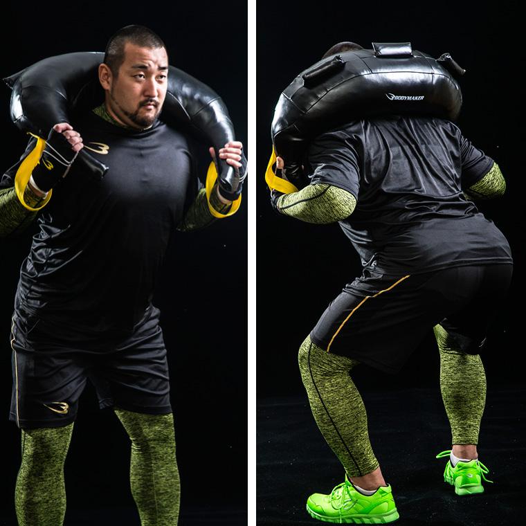 ブルガリアンサンドバッグ 15kg トレーニング例