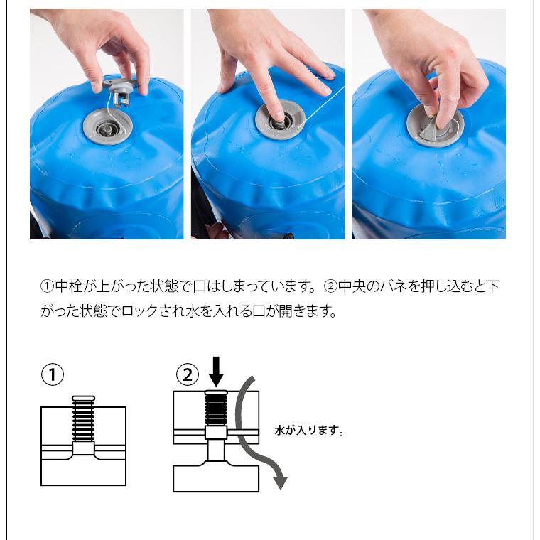 ウォーターバッグ 30kg 水の入れ方�A