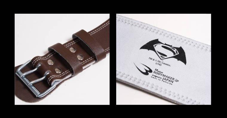 レザーベルト BATMAN VS SUPERMANレザーベルト トレーニングベルト、二つ穴、丈夫なレザー製、耐久性