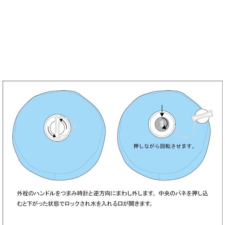 TG083:ウォーターバッグ(ボール型):水の入れ方上