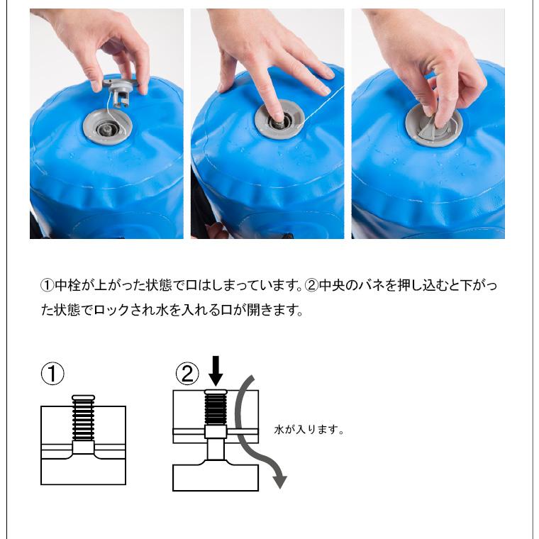TG083:ウォーターバッグ(ボール型):水の入れ方中