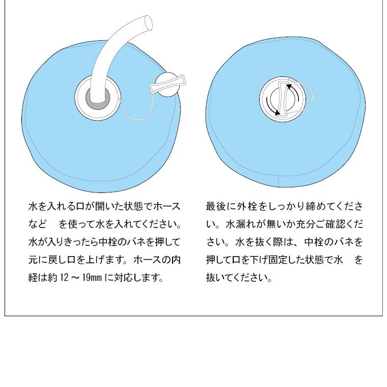 TG083:ウォーターバッグ(ボール型):水の入れ方下