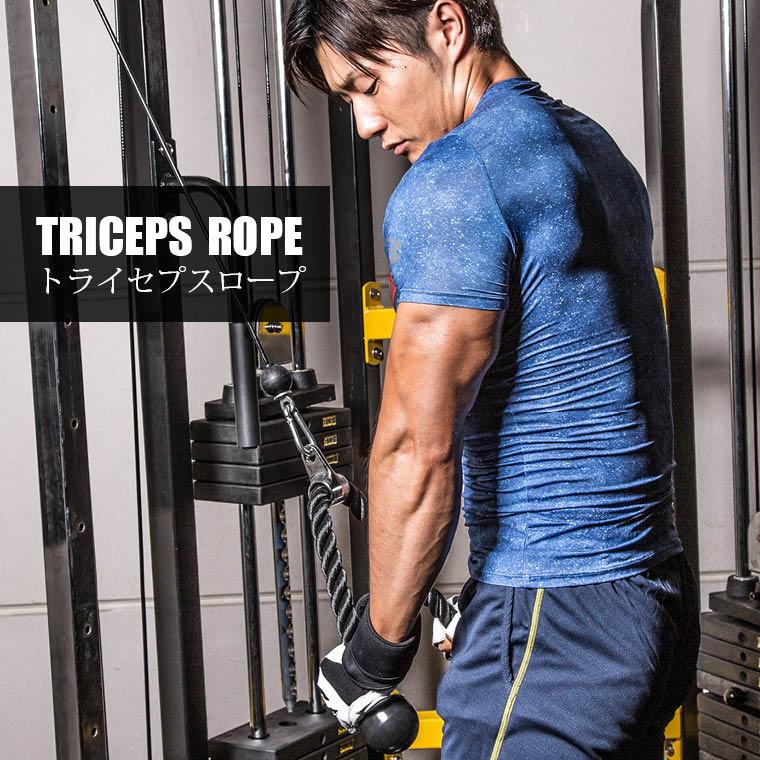 トライセプスロープ:トレーニング例1トライセプスプルダウン
