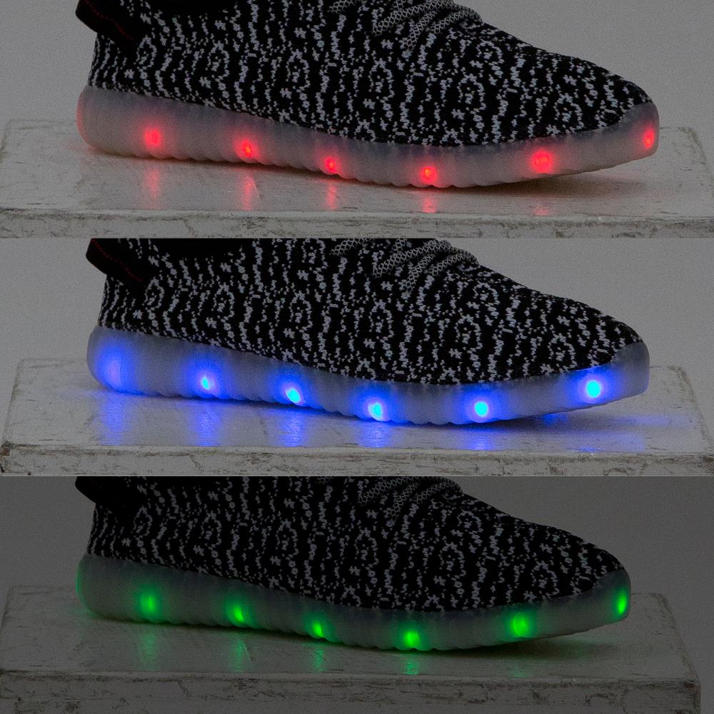 アッパーニットスニーカー LEDライトモデル