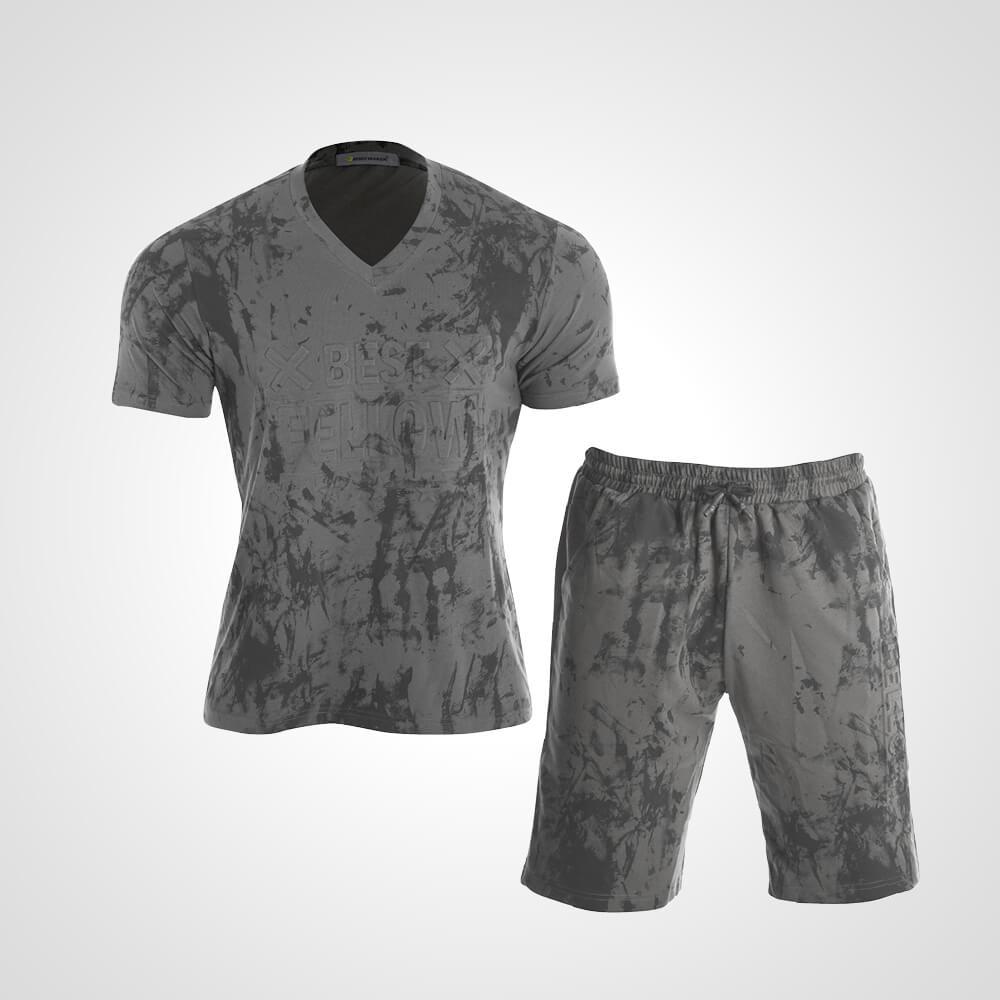 3DロゴプリントTシャツ&ハーフパンツ2