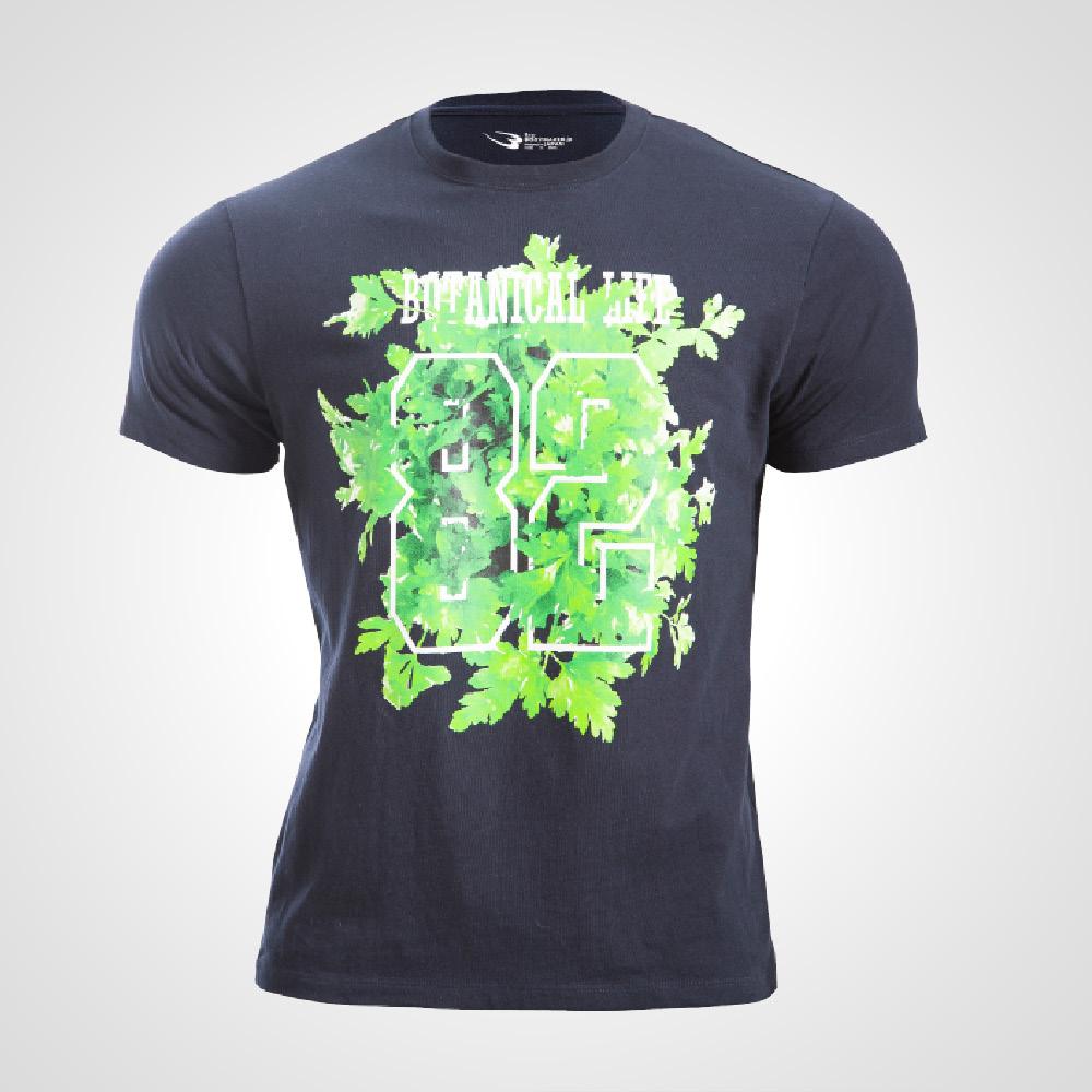 ボタニカルプリントTシャツ1