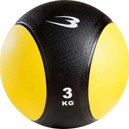 ラバーメディシンボール 3kg ブラック×イエロー