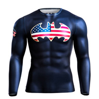 BM・GEAR BATMAN STARS & STRIPES ロングスリーブ