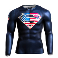 BM・GEAR SUPERMAN STARS & STRIPES ロングスリーブ