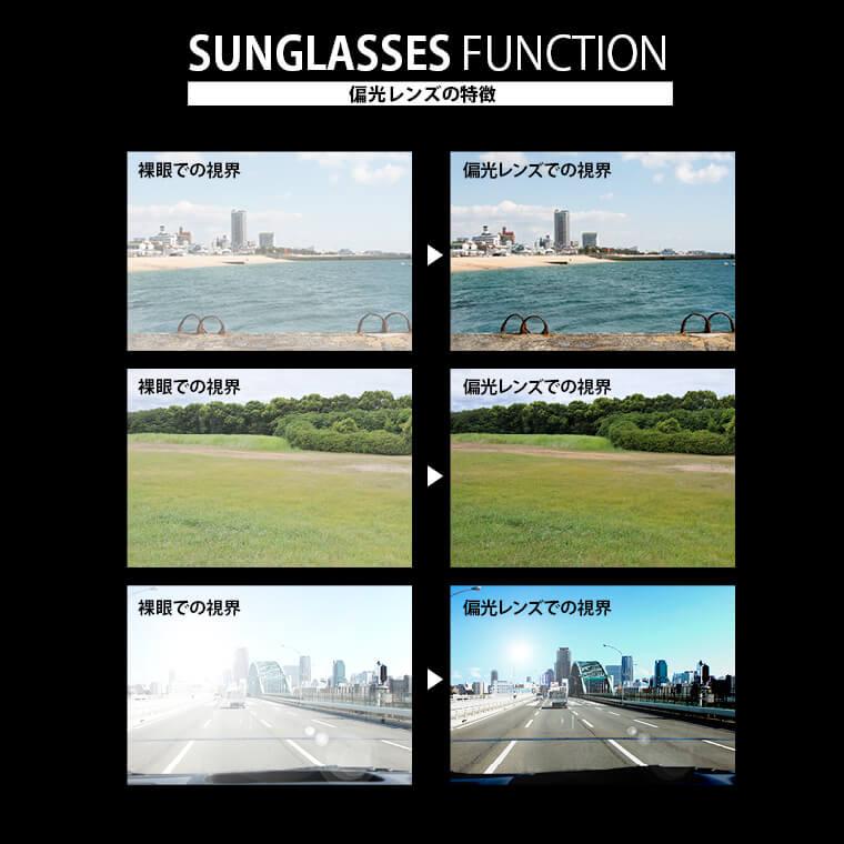 サングラス 偏光レンズ